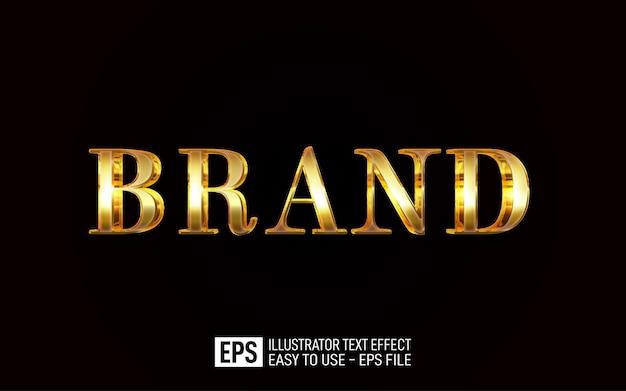 브랜드 3d 텍스트 편집 가능한 스타일 효과 템플릿