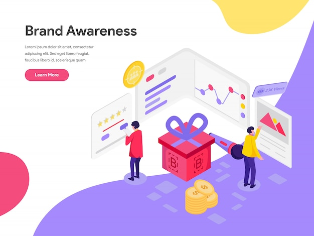Brand awareness illustration concept