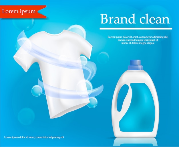 Brand clean concept , realistic style