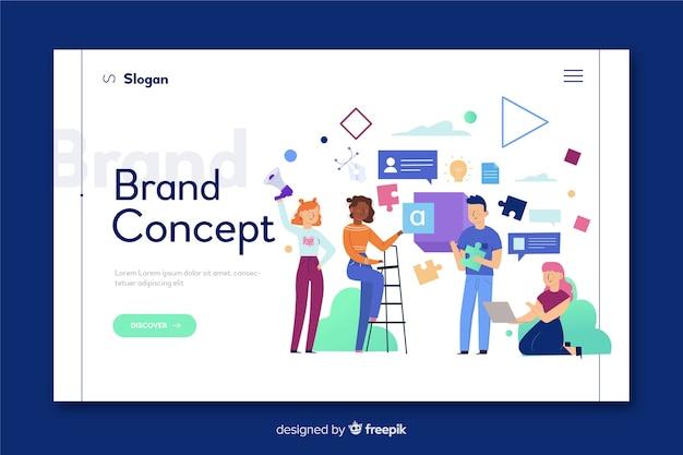 Концепция бренда для целевой страницы