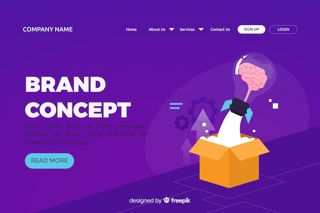 Brand concept for landing page