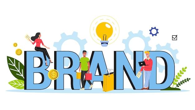 Brand concept. unique  of a company