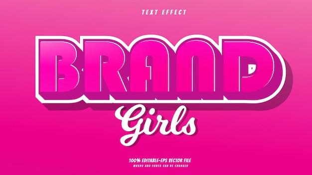 Бренд девушки текстовый эффект дизайн вектор. текстовый эффект 100% редактируемый векторный файл eps слова и шрифты шрифты могут быть изменены Premium векторы