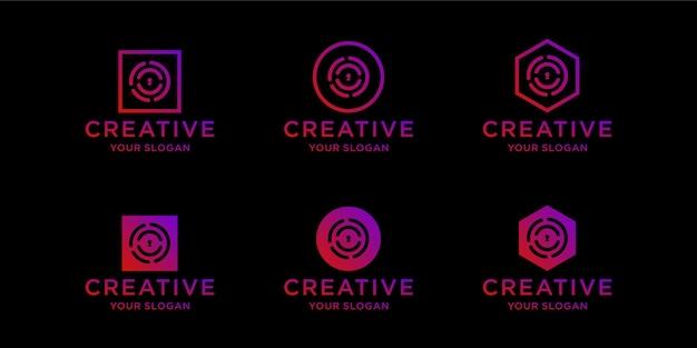 브랜드 아이콘 로고 디자인 템플릿