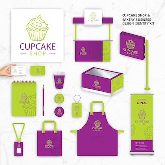 Brand identity templates for cupcake shop