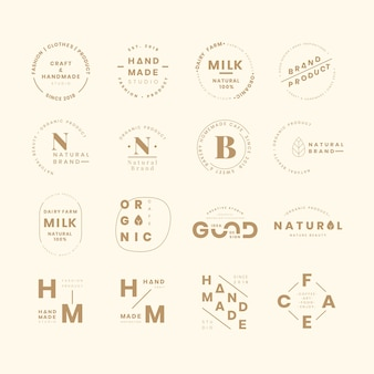 Наборы логотипов бренда