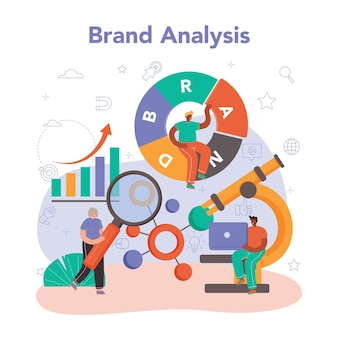 Brand management concept manager creating and developing