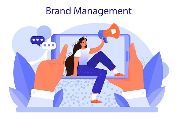 Brand management concept