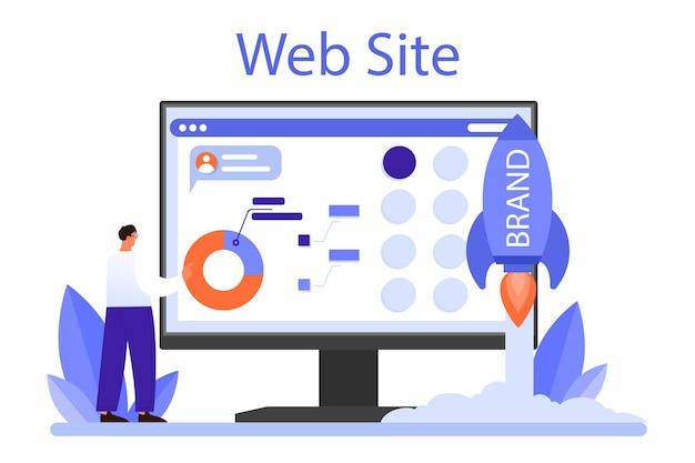 Brand management online service or platform. unique design