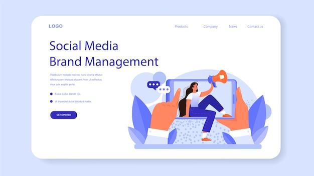 Brand management web banner or landing page unique design