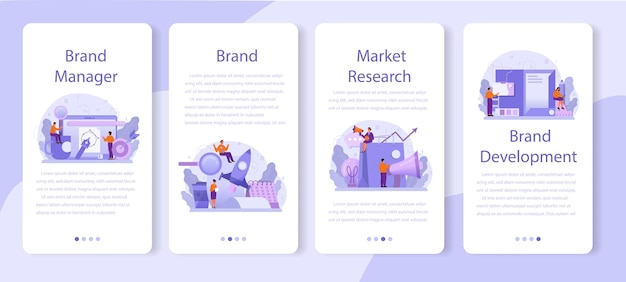 Brand manager mobile application banner set
