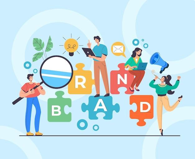 브랜드 menegement 개발 광고 개념.