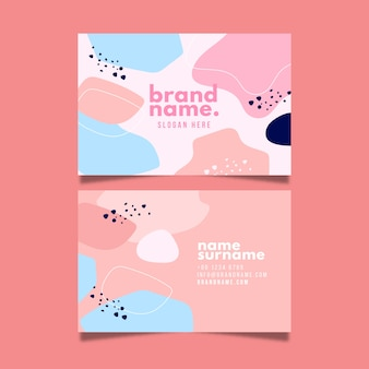 Brand name business card in pastel tones