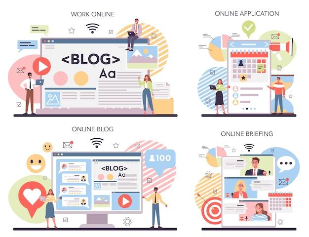 브랜드 홍보 온라인 서비스 또는 플랫폼 세트