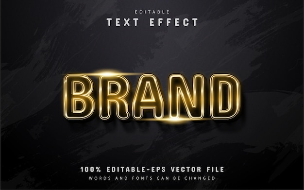 Brand text, gold style text effect