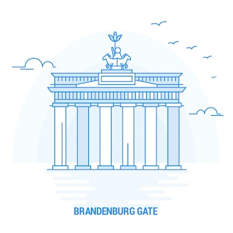 Brandenburg gate blue landmark
