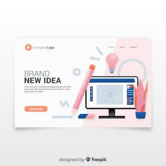 Branding concept for landing page