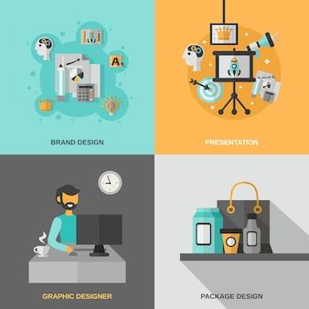 Branding icons set