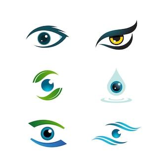 Фирменный стиль корпоративный дизайн векторных иконок по уходу за глазами