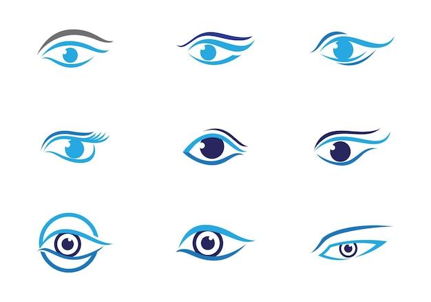 Фирменный стиль корпоративный дизайн векторного логотипа по уходу за глазами