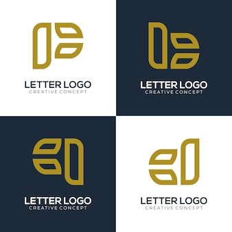 Branding logo letter with one creative concept