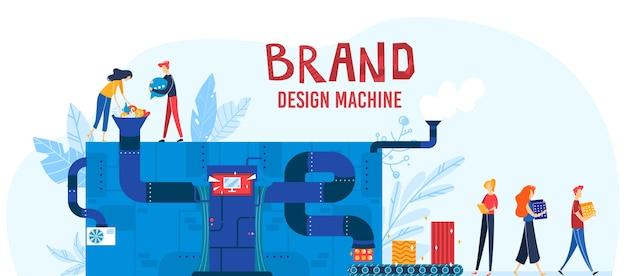 Иллюстрация процесса брендинга.