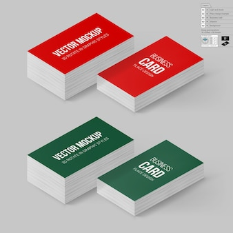 Branding set of business card models