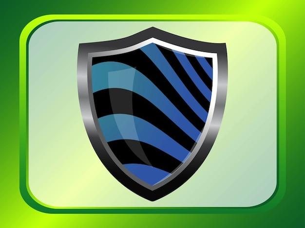 Branding shield shiny lines vector