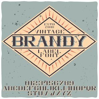 Бренди шрифт