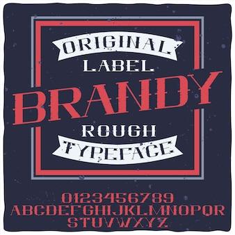 Carattere tipografico di brandy