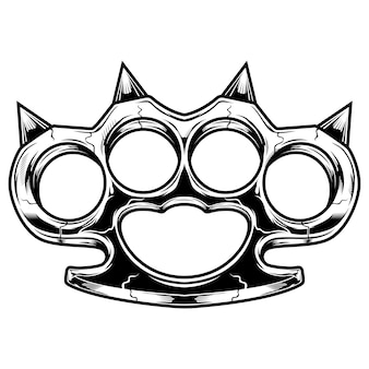 Brass knuckles black and white