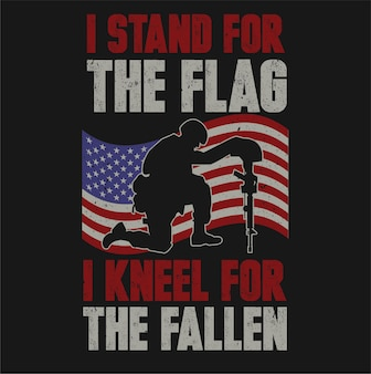 블랙에 고립 된 용감한 미국 군인