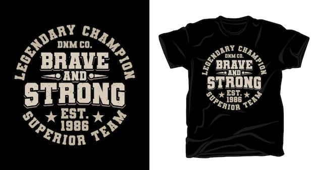 Смелый и сильный дизайн футболки с типографикой