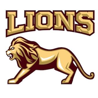 勇敢なライオンロゴチーム