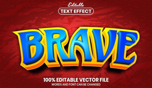 勇敢なテキスト、フォント スタイル編集可能なテキスト効果