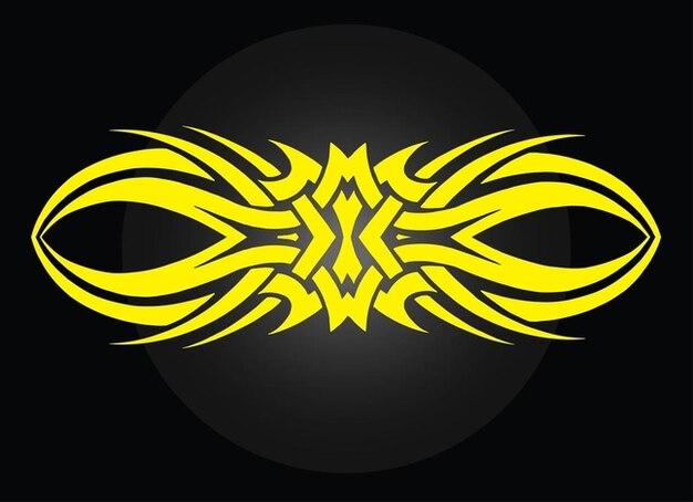 Brave tribal tattoo vector design
