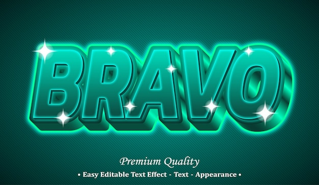 Bravo 3d editable text style effect