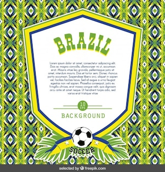 Brazil badge template on colorful background