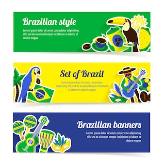 Set di banner brasile
