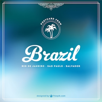 青いブラジルの無料の背景