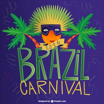 Brazil carnival 2016 background with palm trees