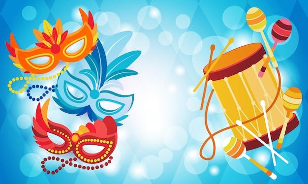 Brazil carnival colorful rio holiday party celebration