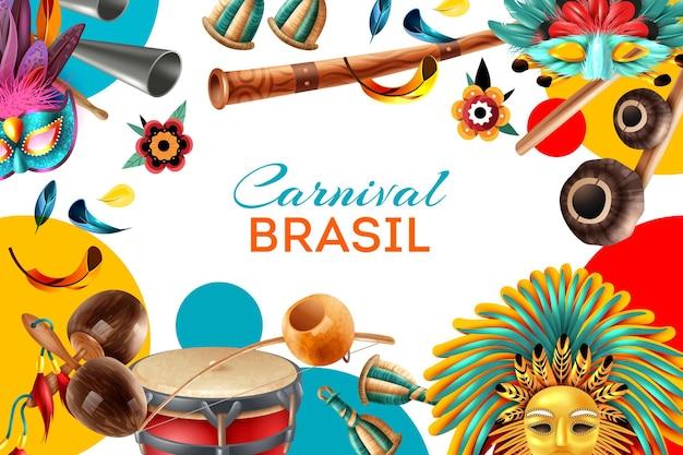 Brazil carnival realistic illustration