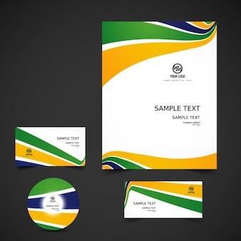 Brazil color business stationery