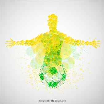 Brazil cup soccer player vector