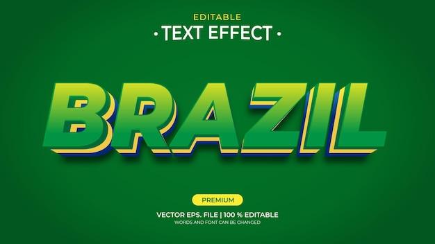 Редактируемые текстовые эффекты для бразилии