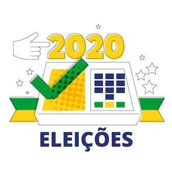 Brazil elections 2020 illustration