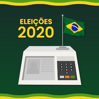 図解されたデジタル形式のブラジルの選挙