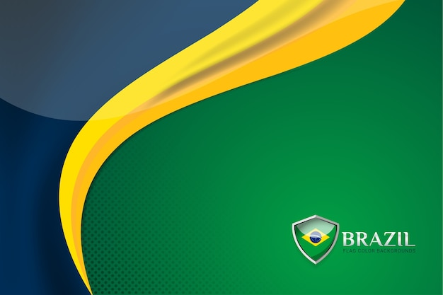 Brazil flag background concept for independence
