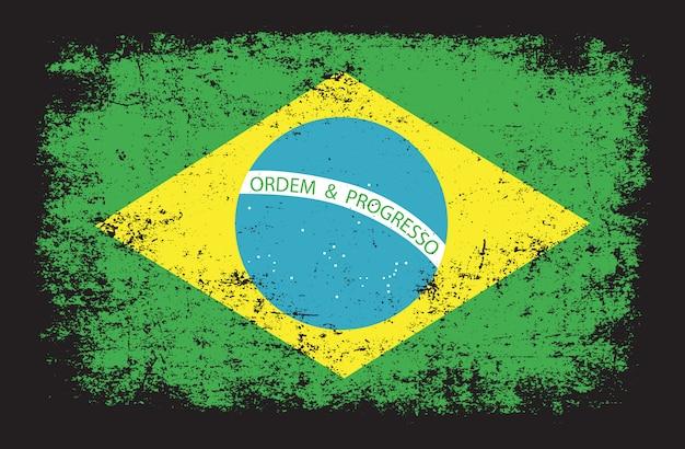 Brazil flag in grunge style